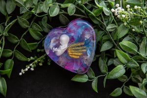 Miscarriage Remembrance Heart | Angel wings