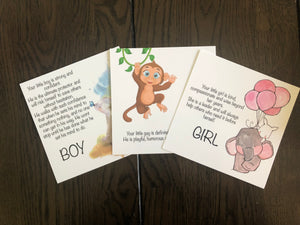Boy or girl? Heart and Angel card