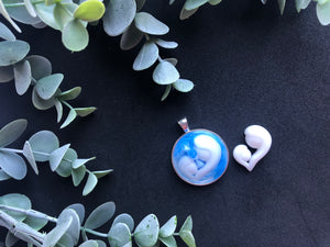 Mother and baby necklace