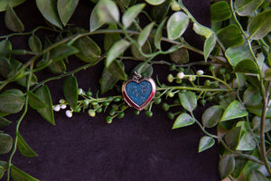 DNA love heart pendant