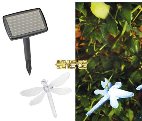 Solar Dragonfly LED String Light - 10 Piece SEG284