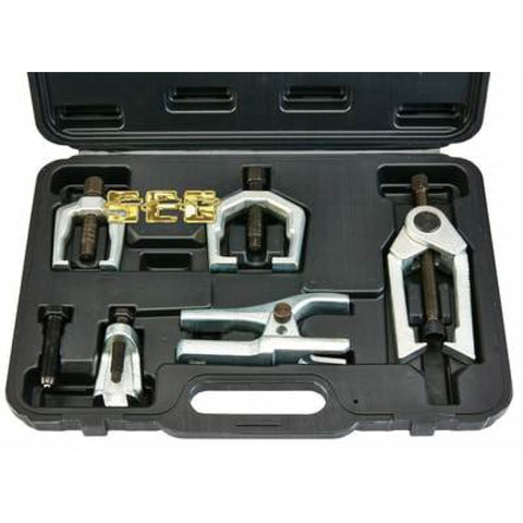 This automotive front end service tool set makes it easy to separate pitman arms, tie rods, and ball joints without damage.