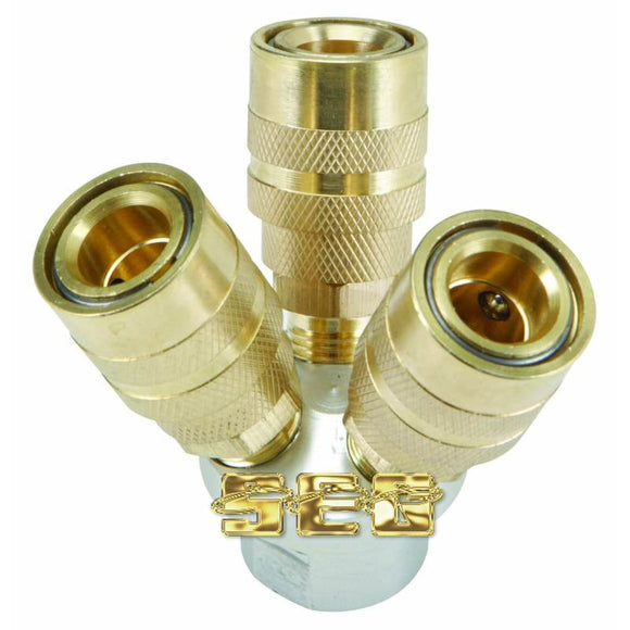 3-Way Quick Coupling Manifold