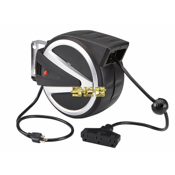 40 ft. Retractable Cord Reel with Triple Tap
