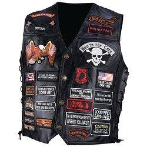 Mens Leather Vest XL