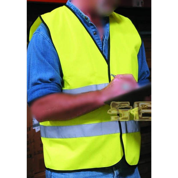 Yellow Reflective Safety Vest, X-Large