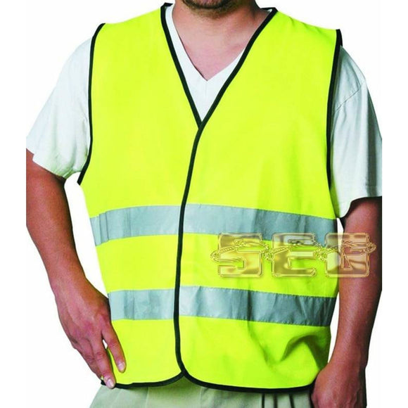Yellow Reflective Safety Vest, Large