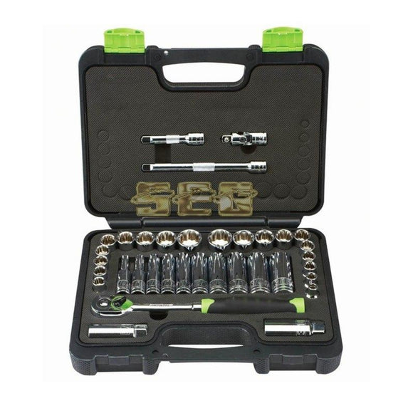 35 Pc 3/8 in. Drive SAE & Metric High Visibility Socket Set