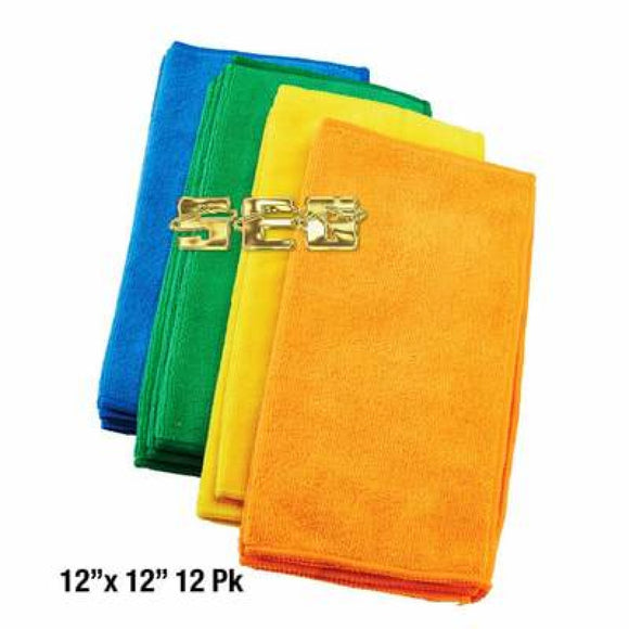 Microfiber Cleaning Cloth 12x12 12 Pk. SEG-GRGSTND171