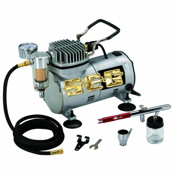 Air Compressor items 1/5 HP 58 PSI Oilless Airbrush Compressor Kit