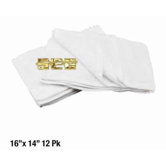 Cotton Terry Cleaning Towel 16x14 12 Pk.