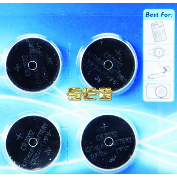 CR2032 Lithium Button Cell Batteries 4 Pk