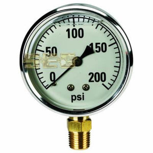 Air Compressor items 200 PSI 1/4 in. NPT Filled Gauge