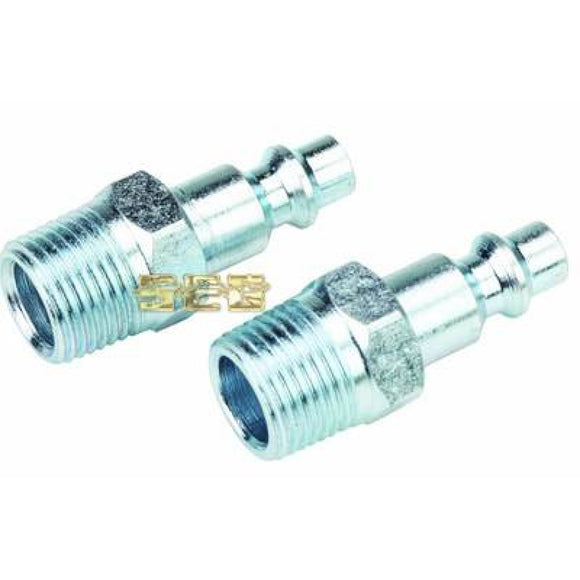 Air Compressor items 1/4 in. Male Steel Industrial Plug 2 Pc