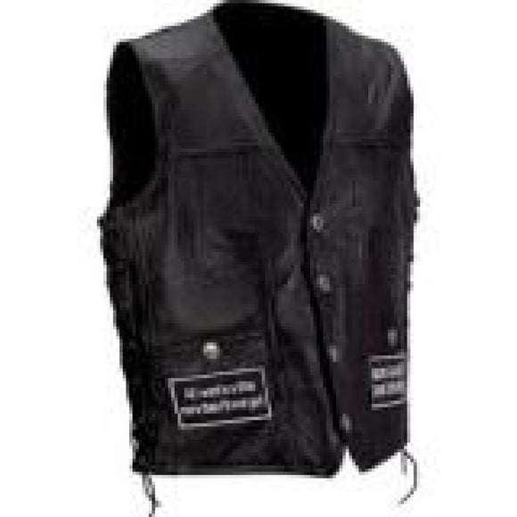 Mens Leather Vest Small