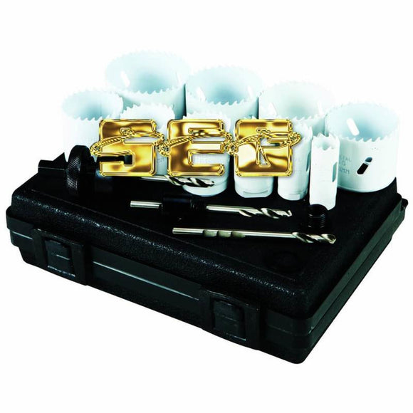 3/4 In - 2-1/2 In Bi-Metal Hole Saw Assorted Set 14 Pc