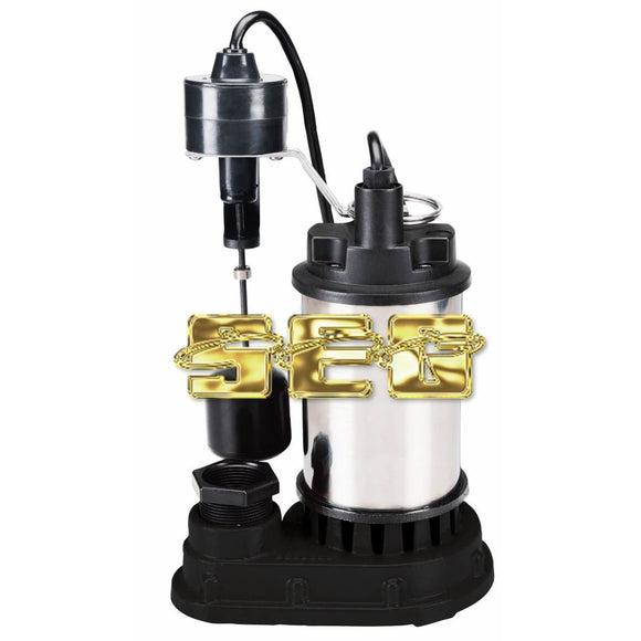 Water Pump,Funtains,Hoses 1/2 HP Submersible Sump Pump with Heavy Duty Vertical Float Switch 4400 GPH