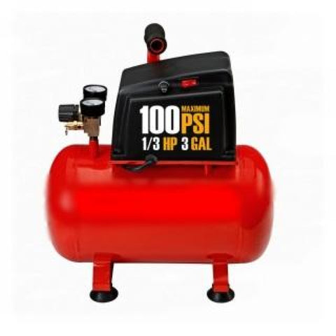 Air Compressor 3 GAL. AIR COMPRESSOR Maintenance-free oilless pump 40 PSI SEG-A-10009