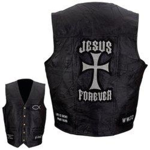 Mens Leather Vest Medium