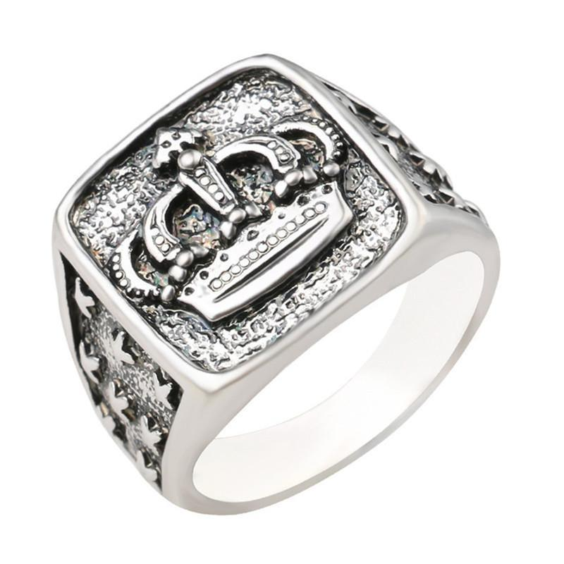 """The Royal Monarch"" Silver Crown Signet Ring - Everything Crunk"