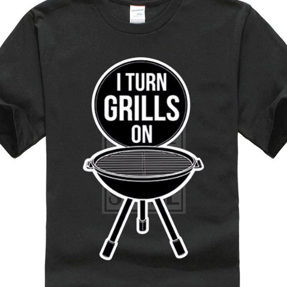 04a0a9afe3 Tee Shirt For Men I Turn Grills On Bbq Grill Master – Bray's