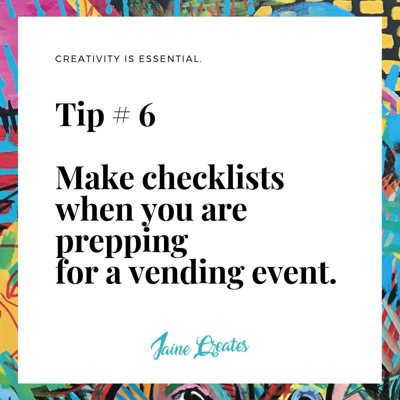 Art Tip #6 - Make Checklists