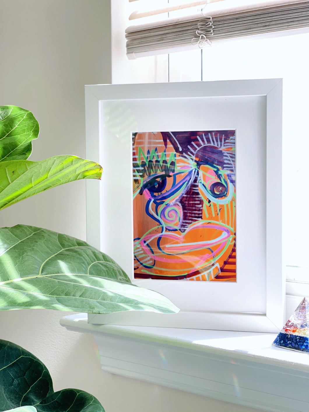 Orange Dreams Framed Original Art