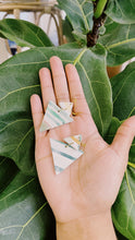 Load image into Gallery viewer, Double Triangle Clay Earrings