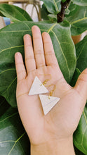 Load image into Gallery viewer, Small Triangle Clay Earrings