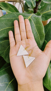 Small Triangle Clay Earrings