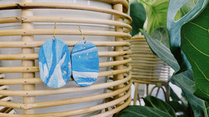 Blue Clouds Clay Earrings