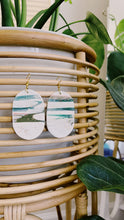 Load image into Gallery viewer, Green Wave Clay Earrings
