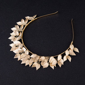 Goddess Gold Metal Multi Leaf Hairbands Hair Jewelry