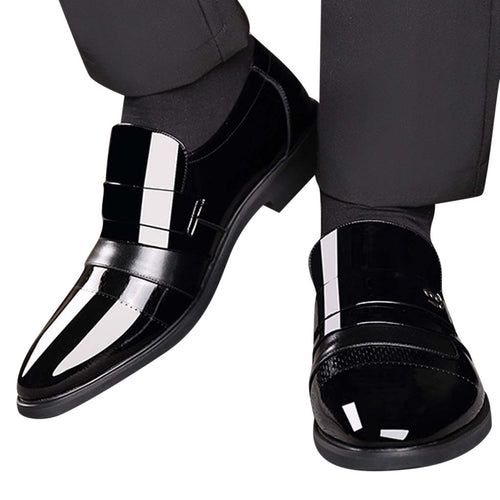 Men's 'Shiny' Ballroom Slip-On Dance Shoes