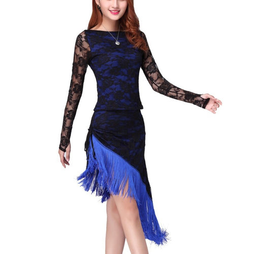 Women's Two-Tone Lace Dress Dancewear