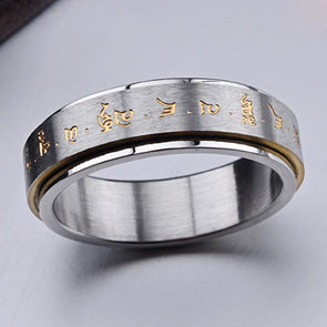 Spinning Mantra Ring