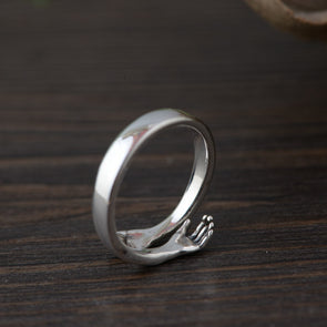 Solid 925 Sterling Silver Arm Hug Ring