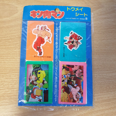 Kinnikuman Thick Rubber Sticker Set