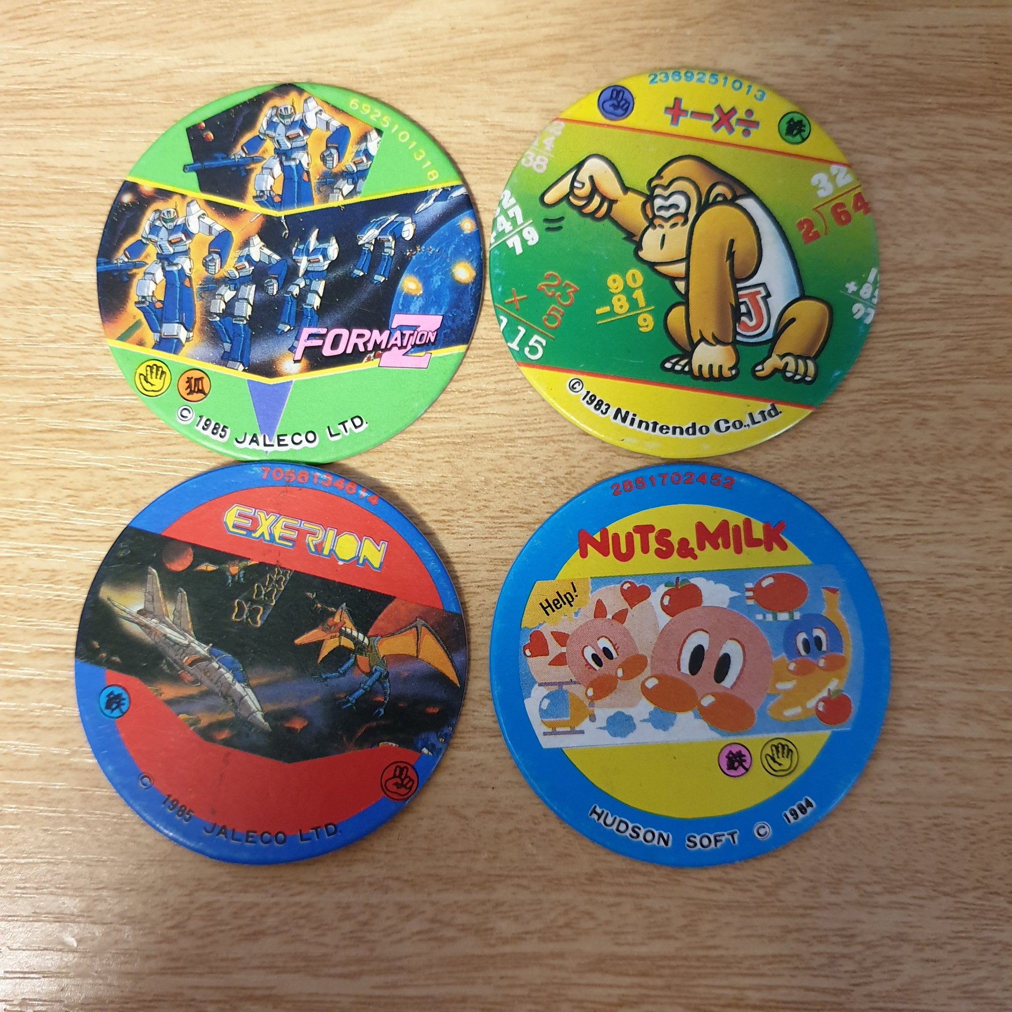 Famicom Round Menko Card Set