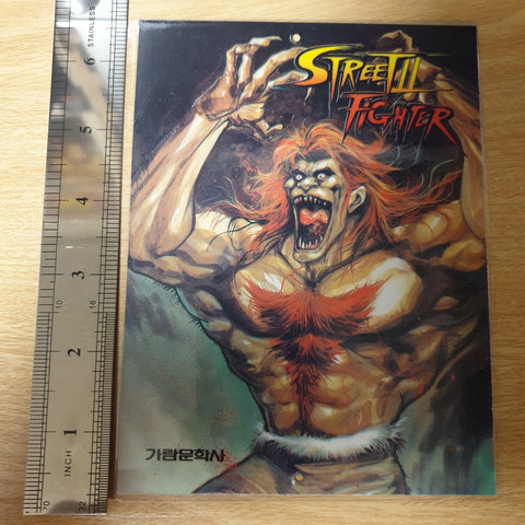 Street Fighter Korean Manga Laminated Double-Sided Promo Card #2