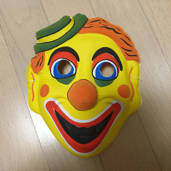 Vintage Plastic Korean Mask - Clown