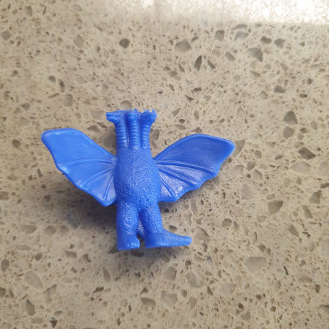 Godzilla Series Plastic Mini Figure (70s Vintage) - King Ghidorah - Blue - 20200312
