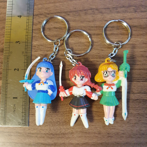 Magic Knight Rayearth Keychain Mini Figure Set - 20200630 / KINMIN01