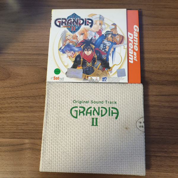 Grandia 2 Official Korean PC Version w/ Soundtrack CD (BRAND NEW SEALED)