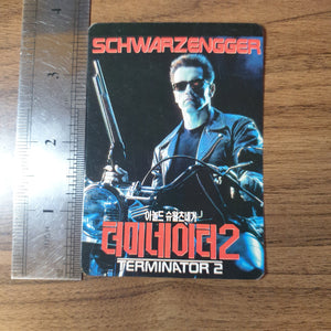 Vintage Korean Movie Promo Card - Terminator 2 - 20200728
