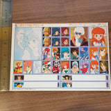 Manga Appendix Sticker Sheet - VHS / Cassette Tape Seal - Anime Variety #4 - 20200904 - BL11