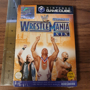 Wrestlemania XIX / 19 - Nintendo GameCube (KOREAN VERSION) (NEW & FACTORY SEALED)