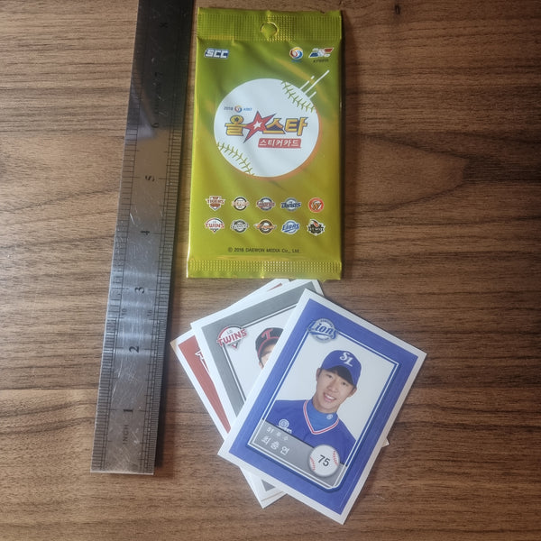 KBO League Korean Baseball Sticker Card Pack (2018)