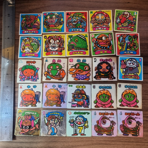 Vintage Bikkuriman Sticker Lot - 20210227 - BL44