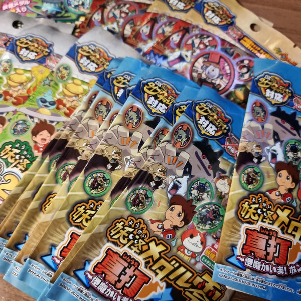 Yokai Watch Japanese Medal Lot (34 Pieces w/ Original Packaging) - 20210330 - BL55